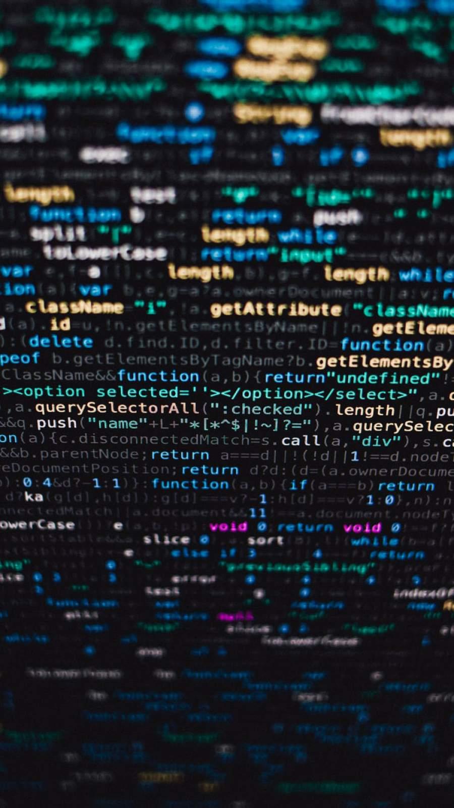 Javascript Code iPhone Wallpaper