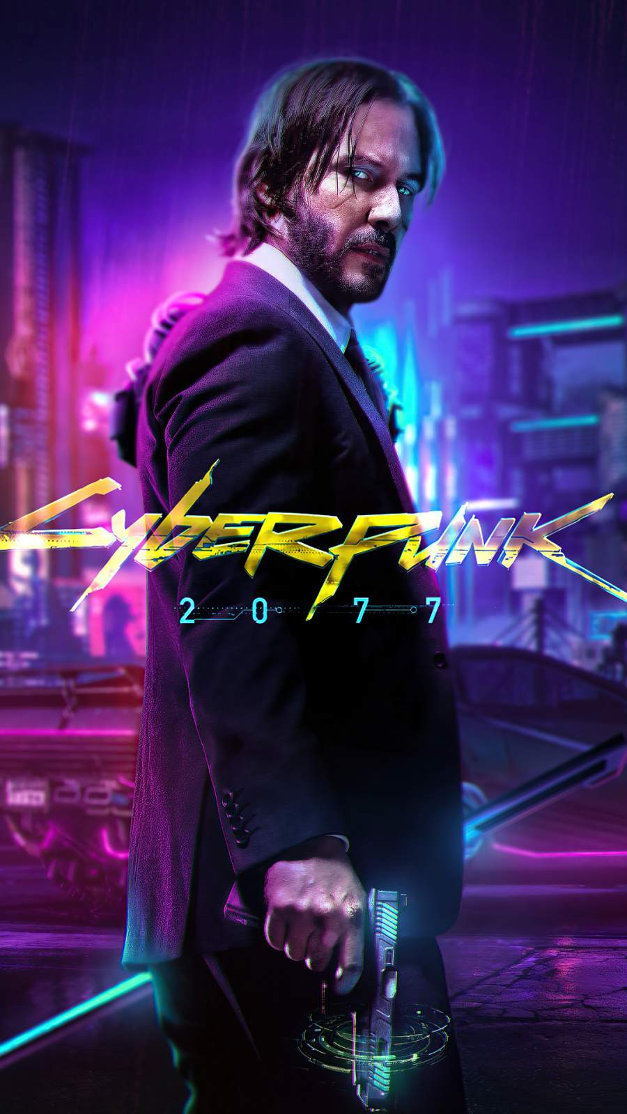 John Wick 2077 iPhone Wallpaper