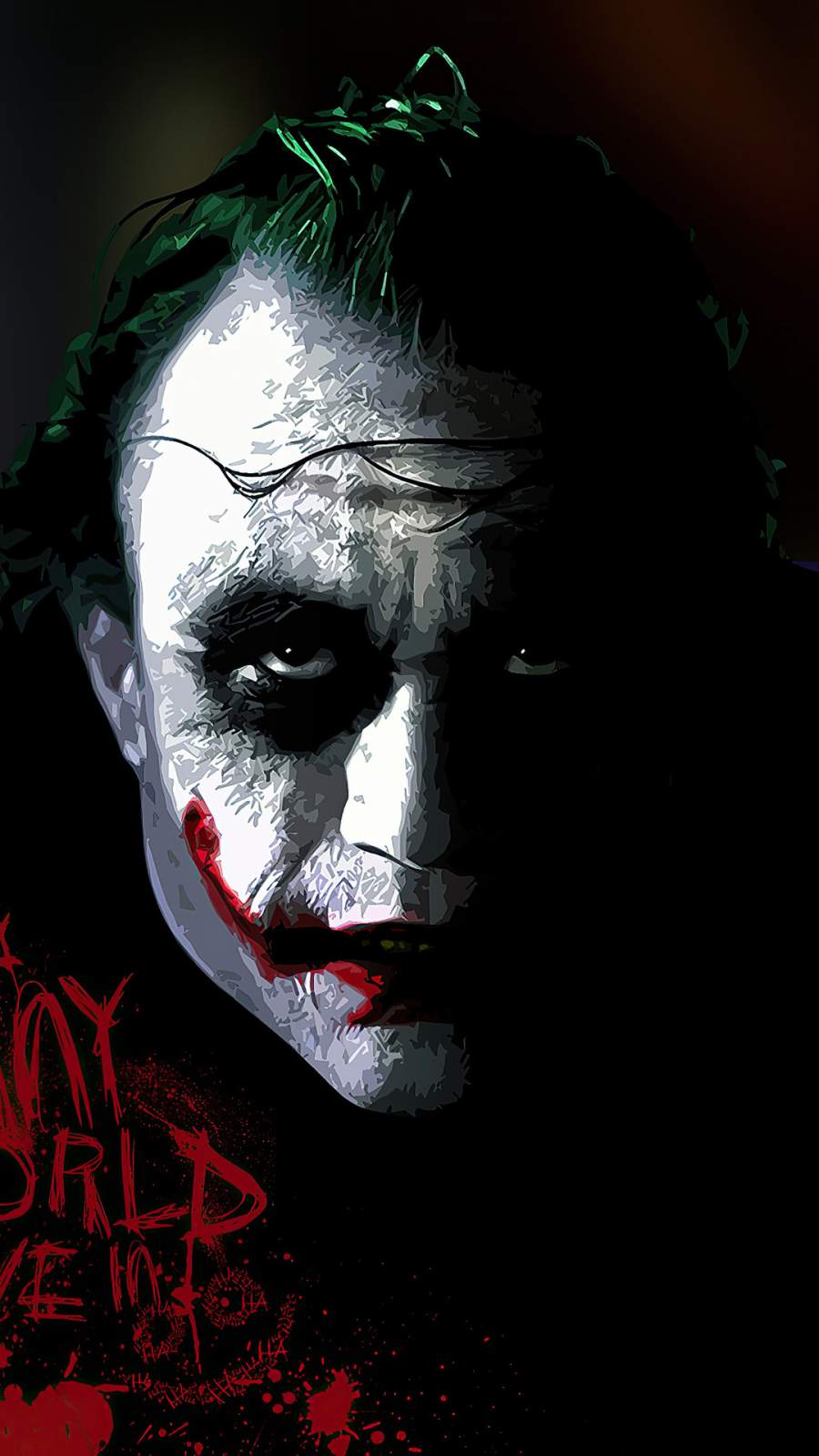 Joker its Funny World We Live Us iPhone Wallpaper