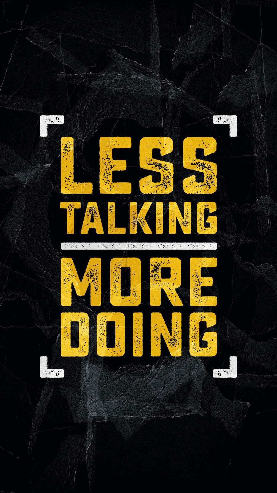 Less Talking More Doing iPhone Wallpaper