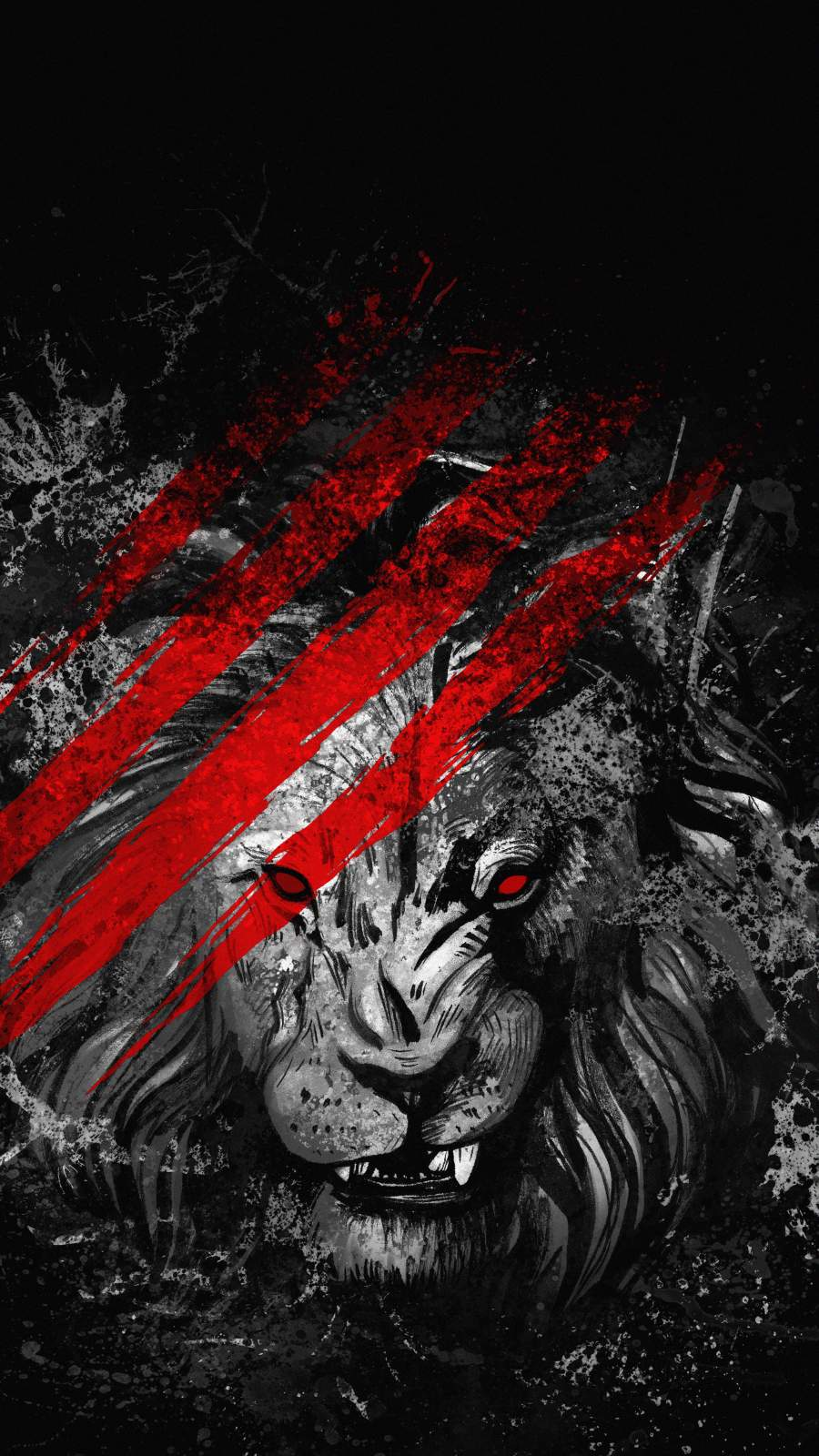Lion Art iPhone Wallpaper