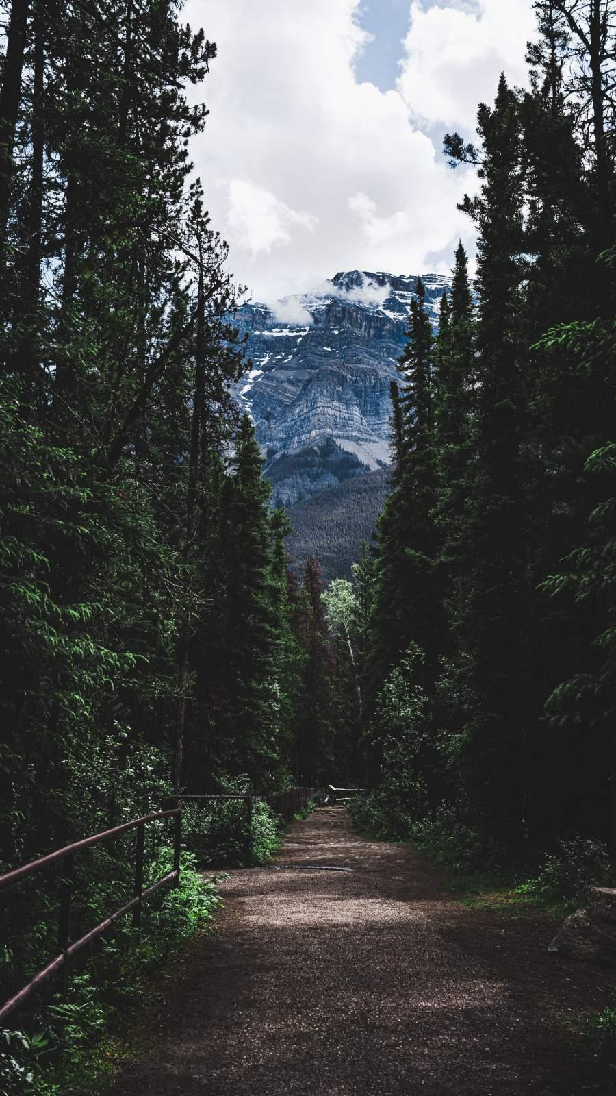 Mountain Trekking iPhone Wallpaper