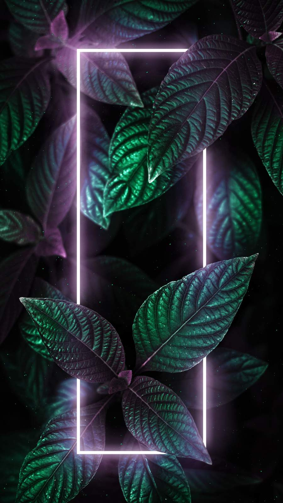 Neon Light Green Foliage iPhone Wallpaper