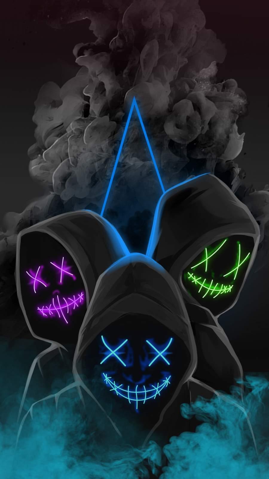 Neon Stitch Mask