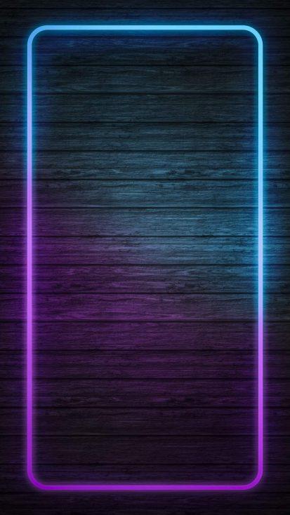 Neon Wood Background iPhone Wallpaper