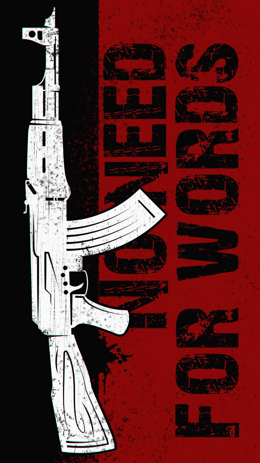No Words Only Guns iPhone Wallpaper