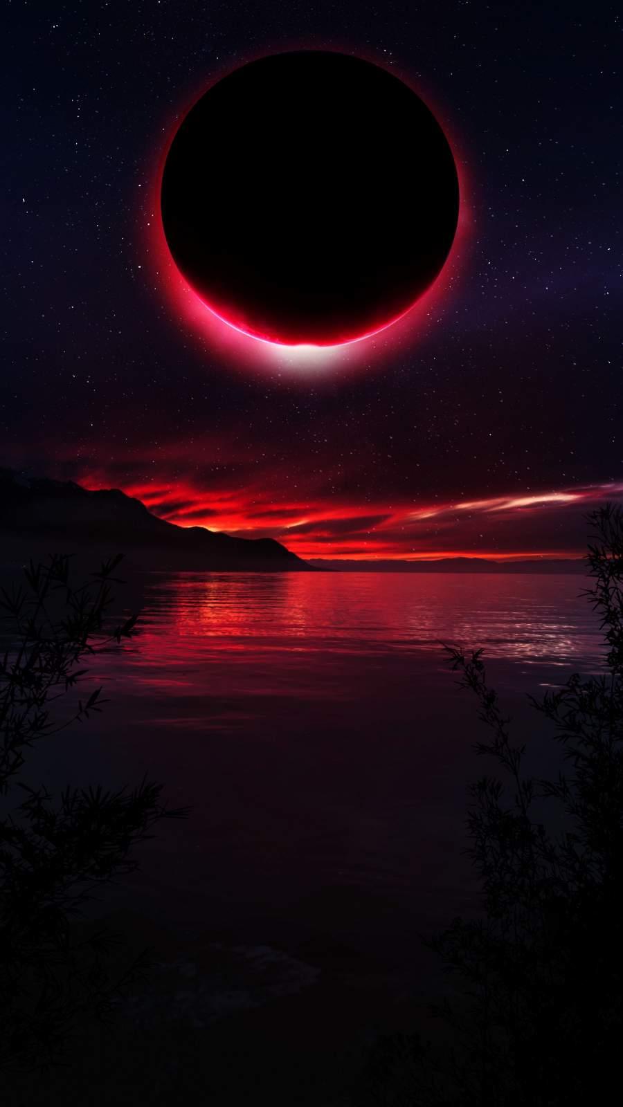 Red Eclypse iPhone Wallpaper