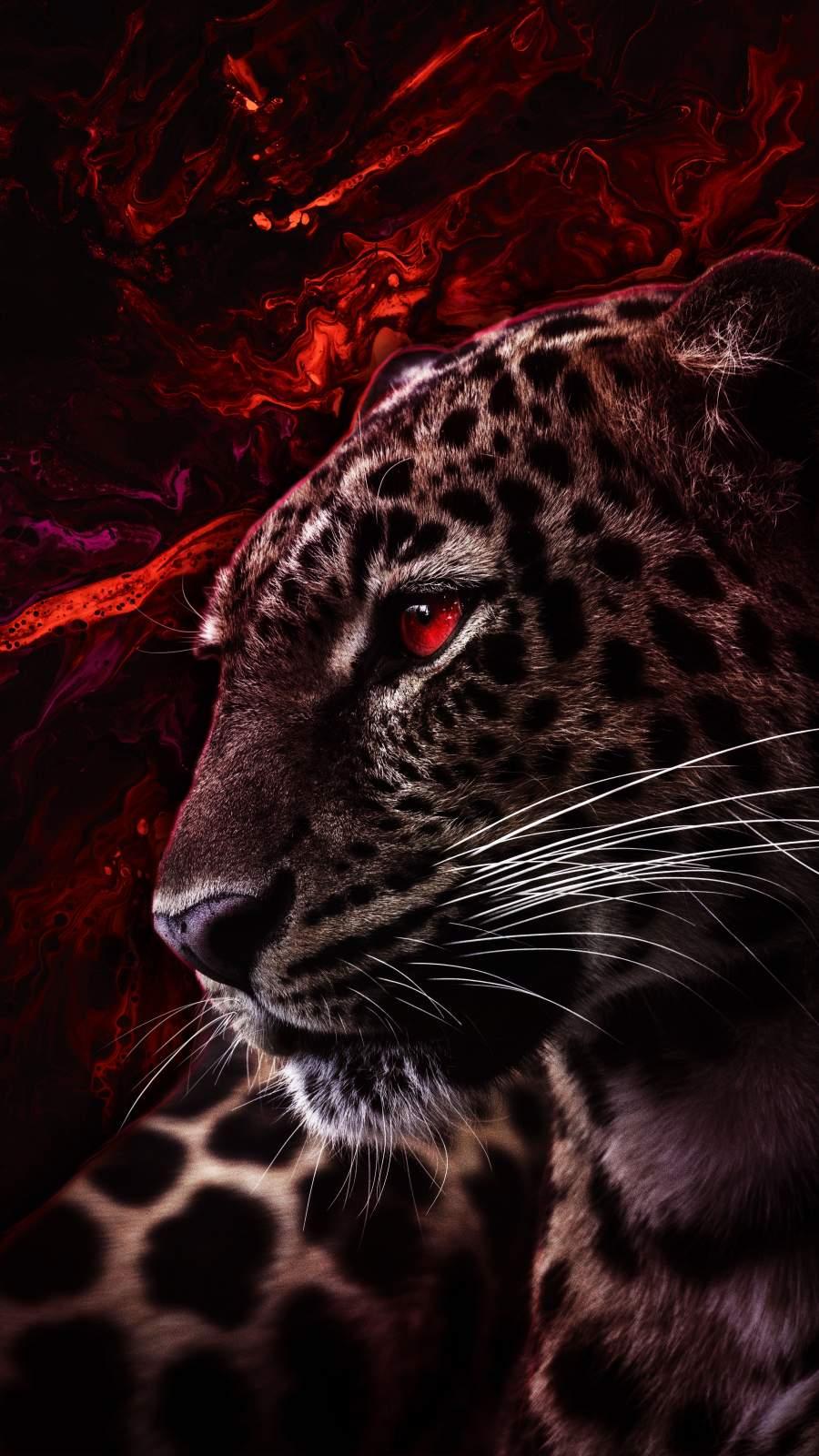 Red Predator iPhone Wallpaper