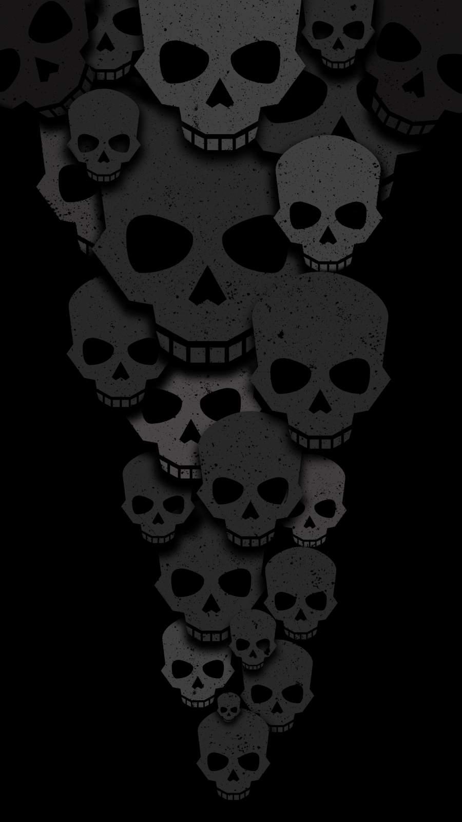Skulls Minimalism iPhone Wallpaper