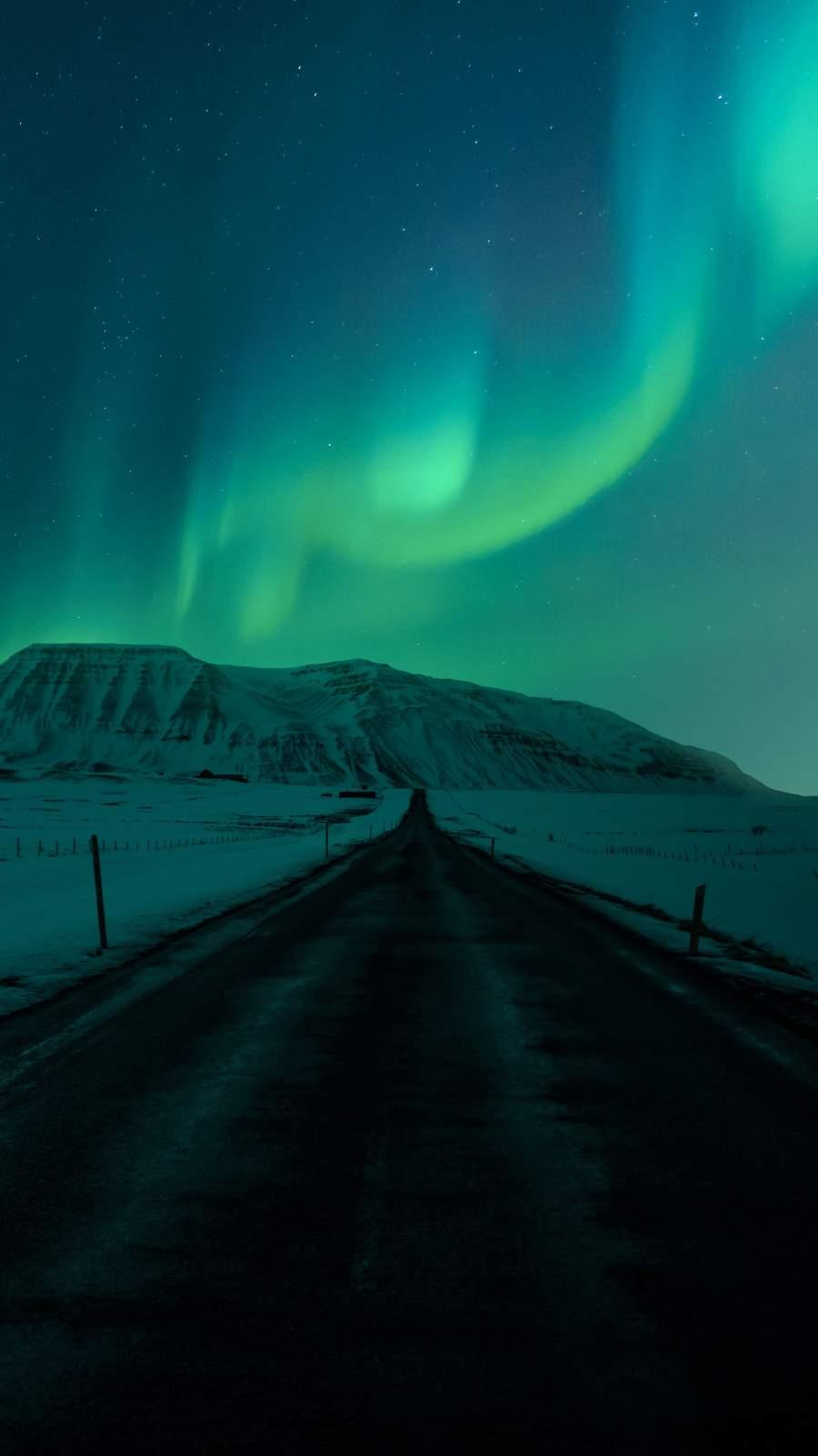 Sky Aurora Lights iPhone Wallpaper