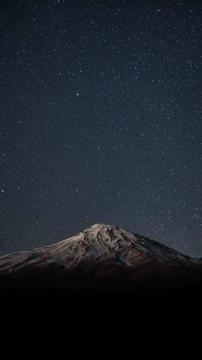 Snow Mountain Starry Night