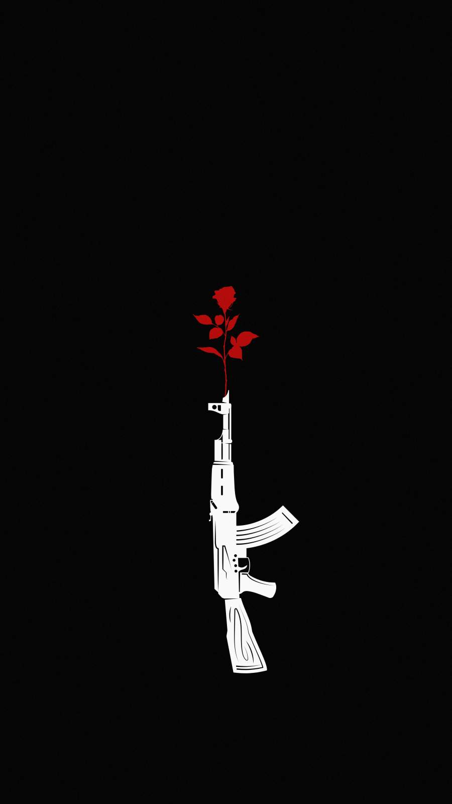 Spread Love Not Bullets iPhone Wallpaper
