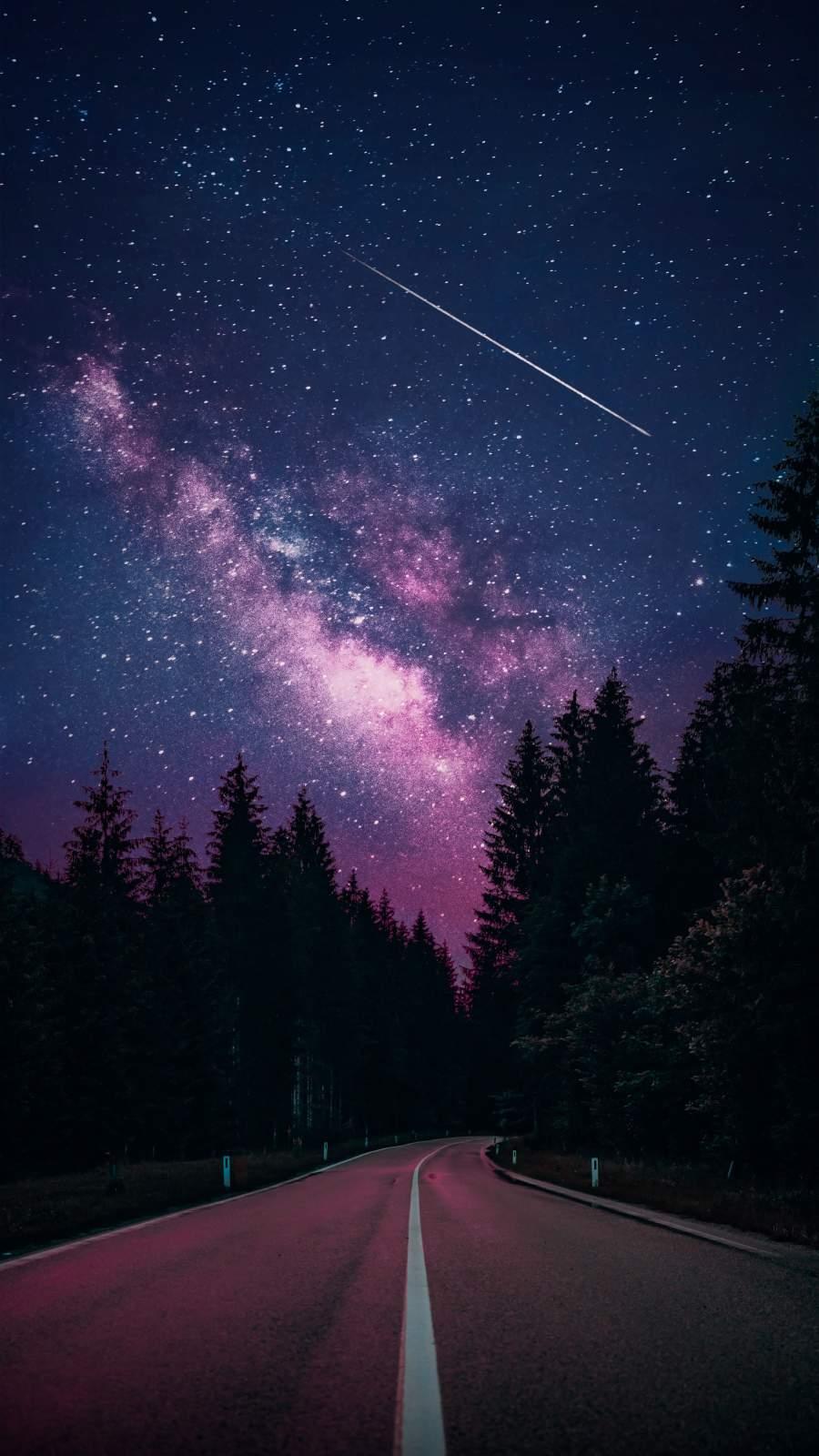 Starry Sky Night Road