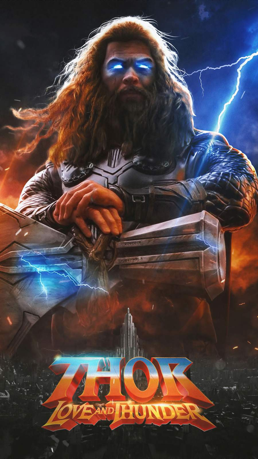 Thor Love and Thunder iPhone Wallpaper