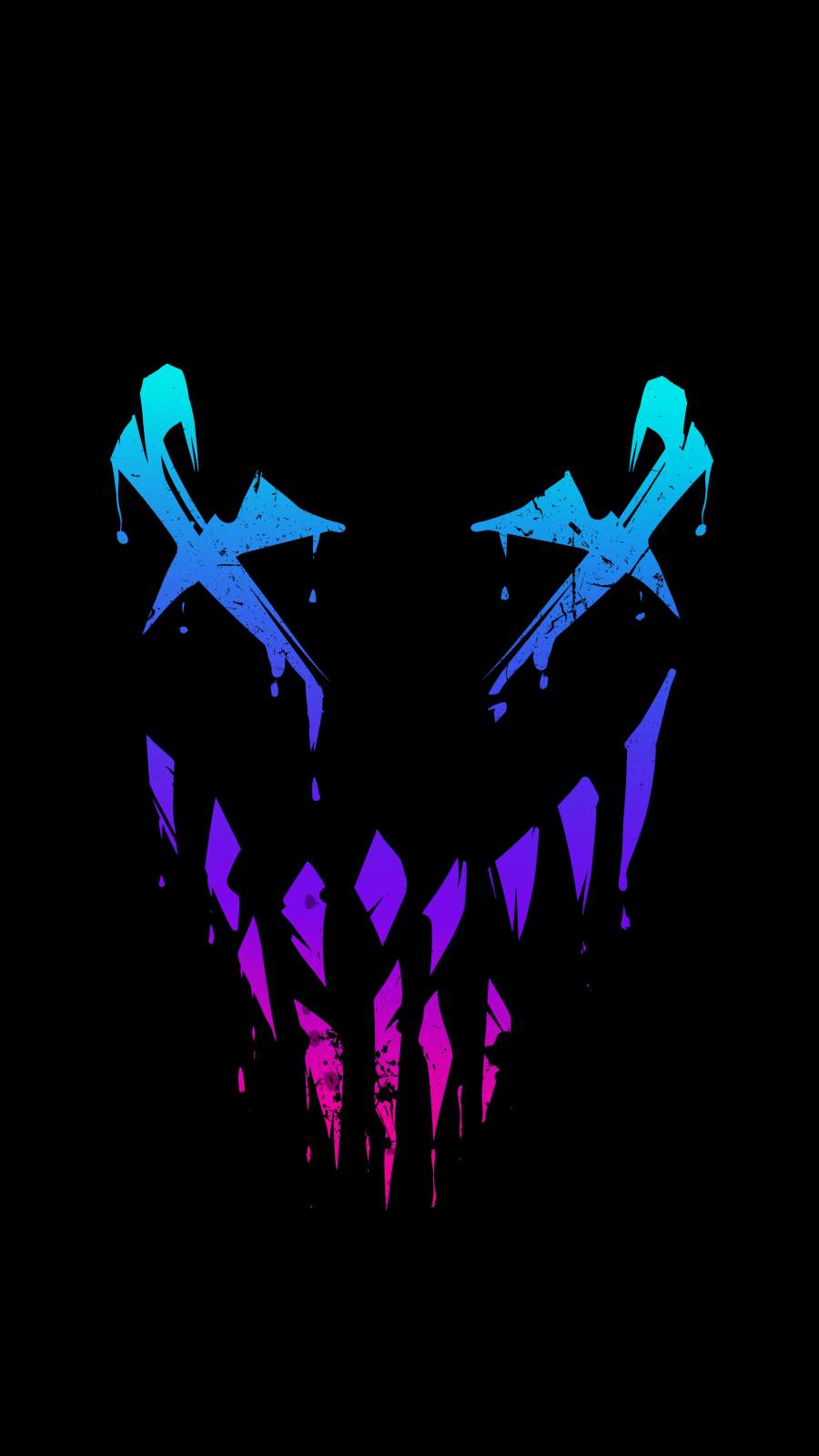 Venom Face Amoled iPhone Wallpaper