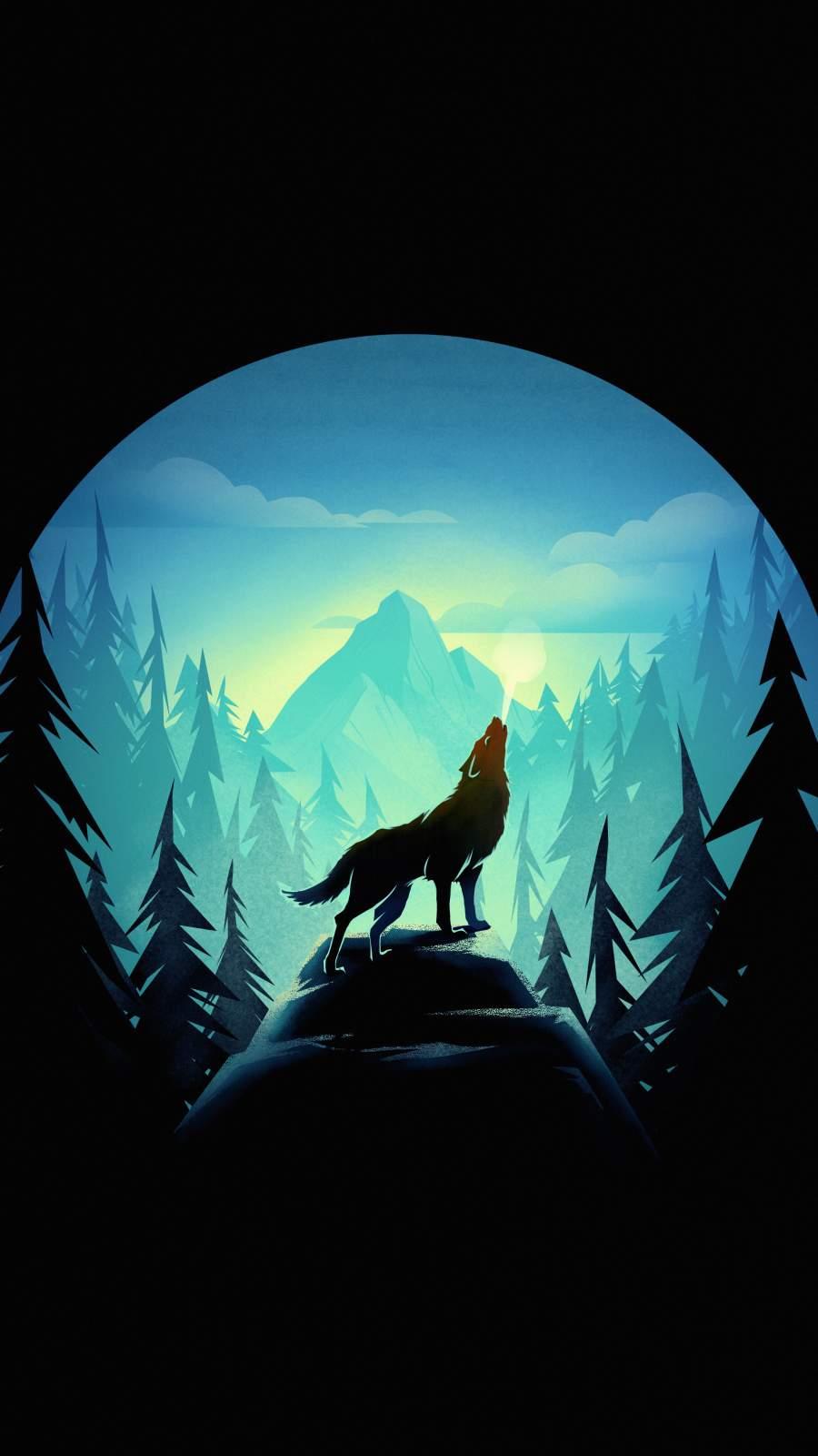 Wolf Howl iPhone Wallpaper