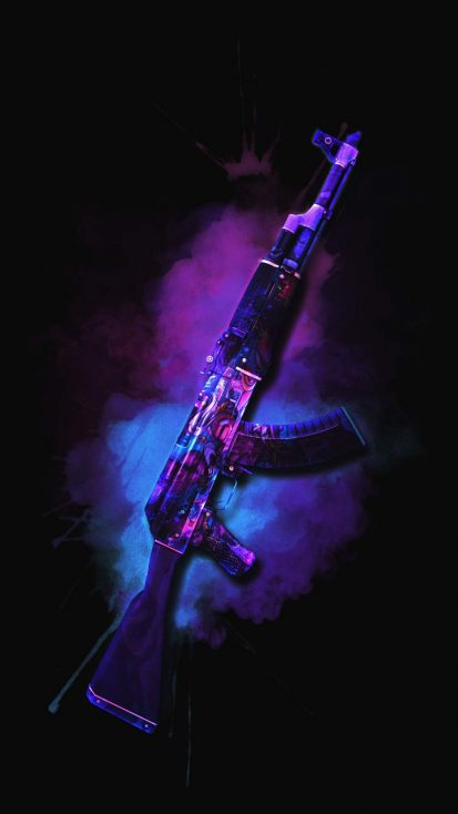 AK 47 PUBG Skin iPhone Wallpaper