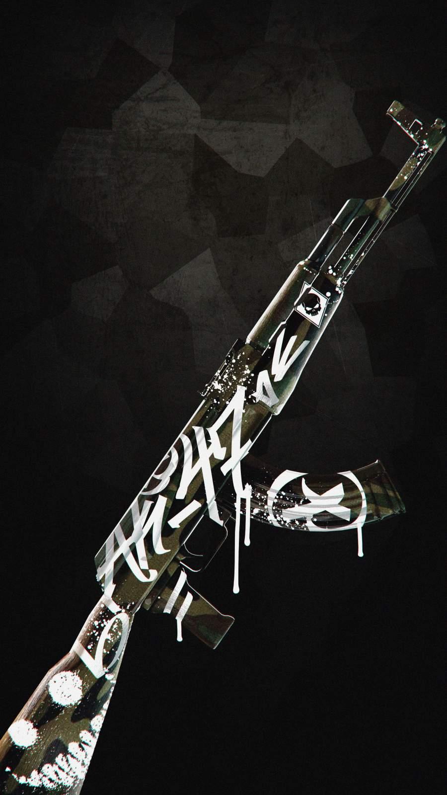 AK 47 Skin iPhone Wallpaper