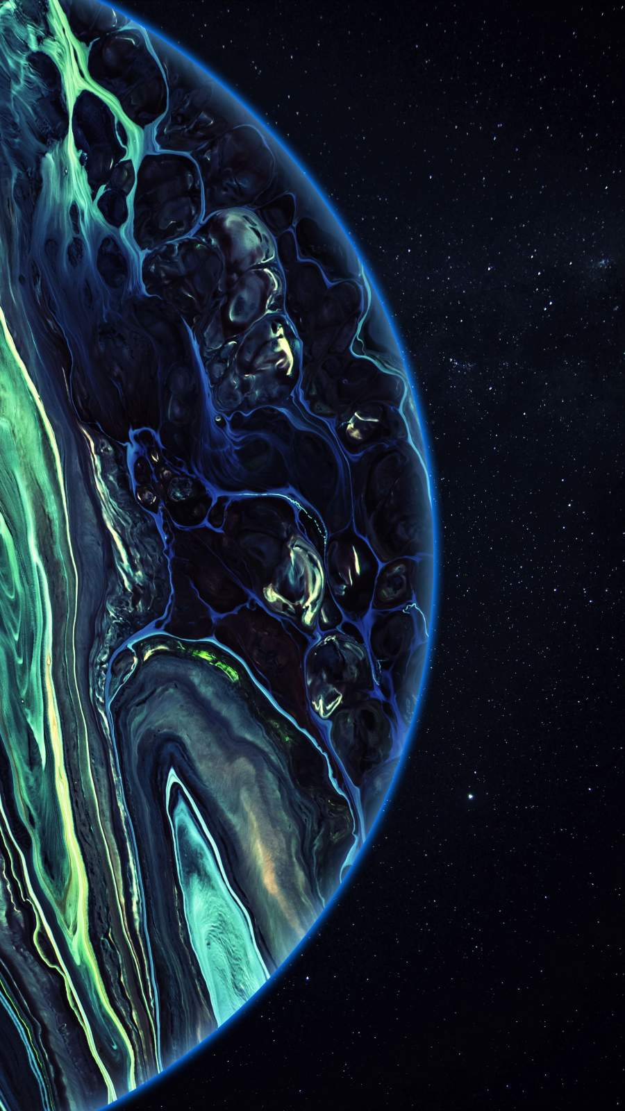 Amoled Deep Space Planet