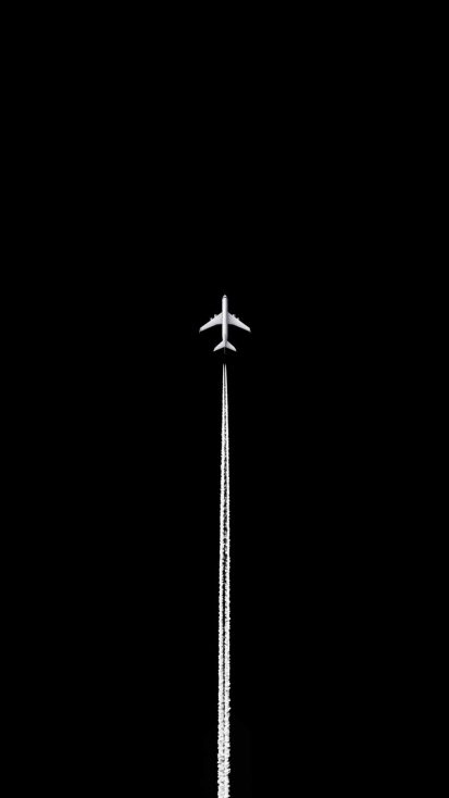 Black Sky Aircraft iPhone Wallpaper