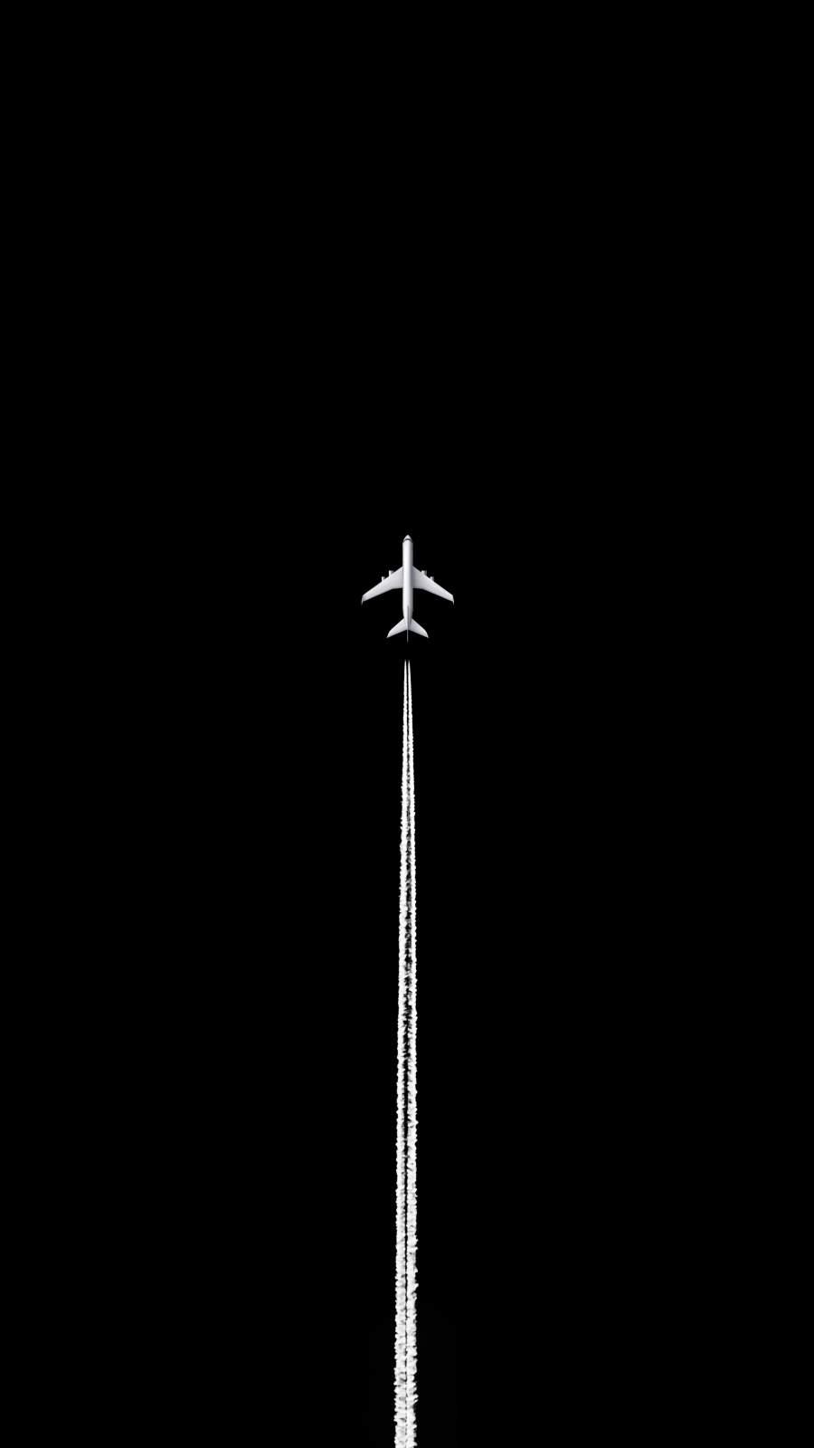 Black Sky Aircraft iPhone Wallpaper