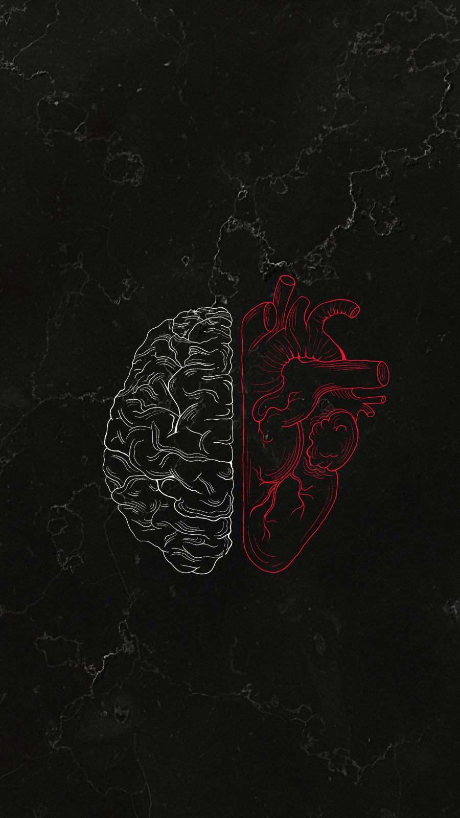 Brain vs Heart iPhone Wallpaper