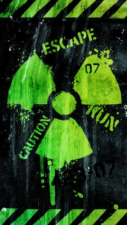 Caution Radioactive iPhone Wallpaper