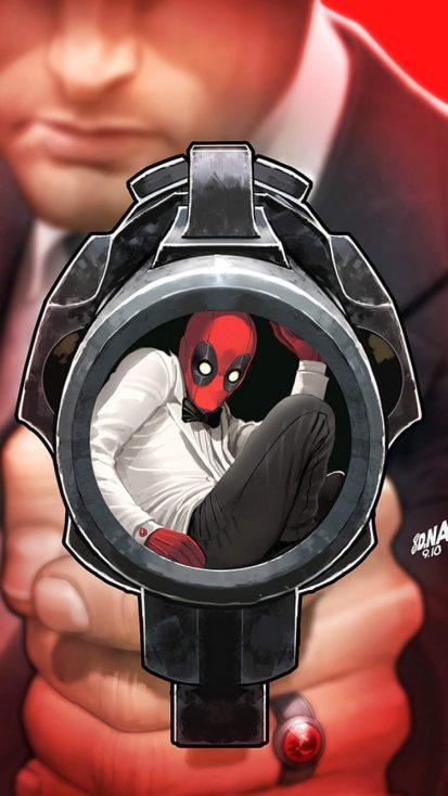 Deadpool Agent iPhone Wallpaper