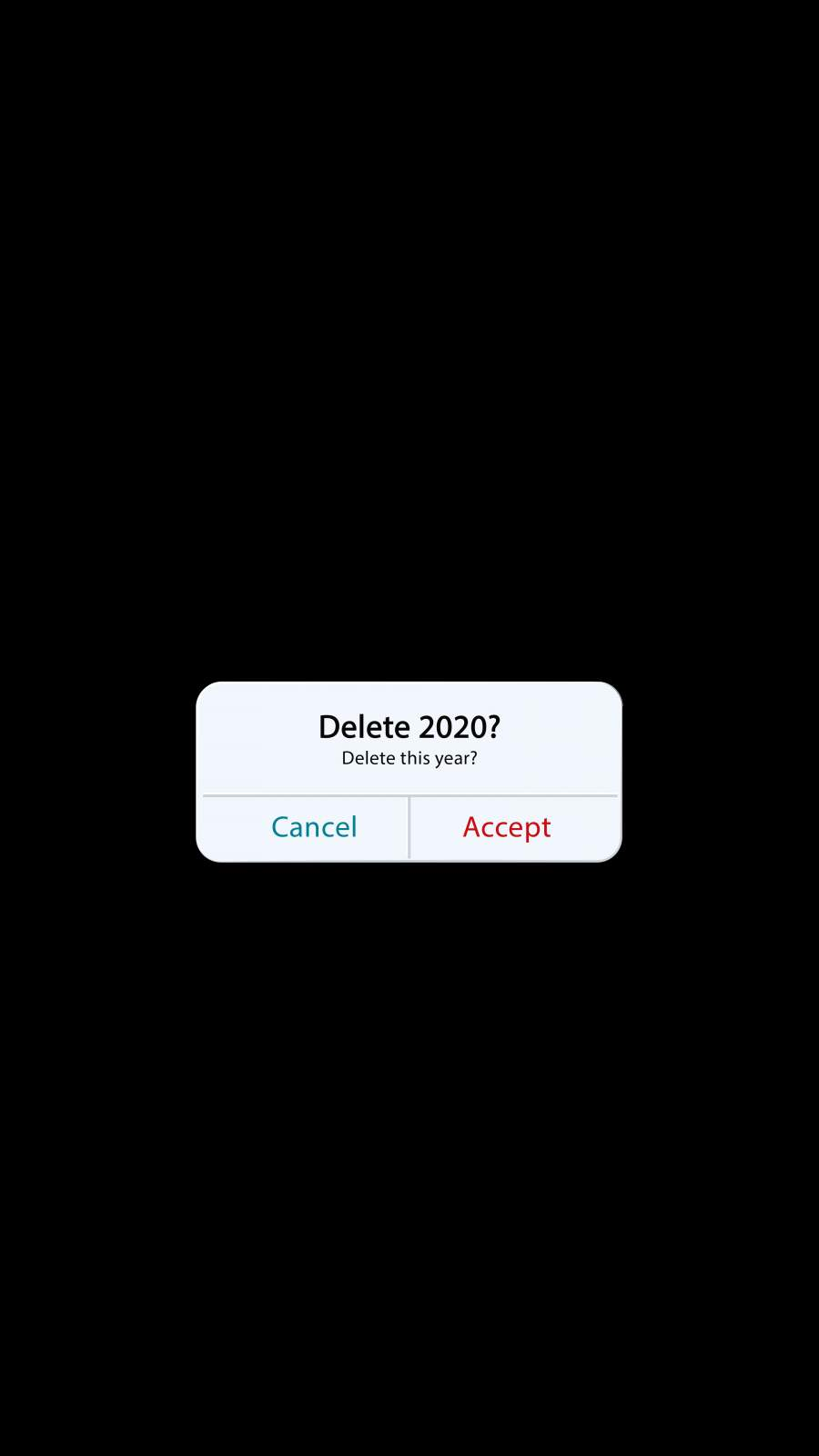 Delete 2020 Year