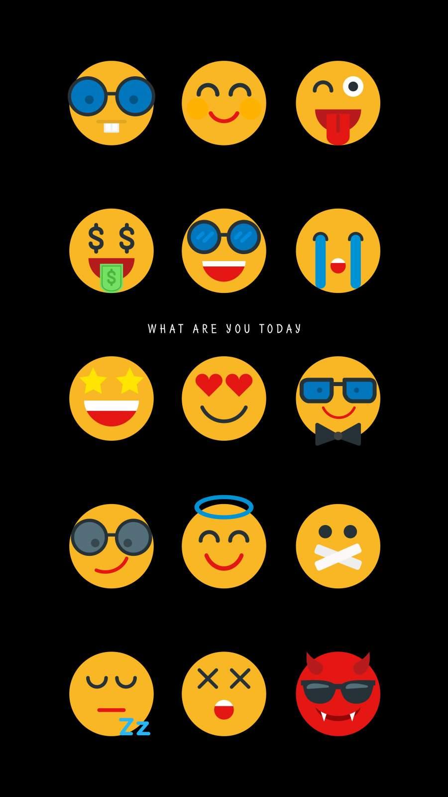 Emoji Mood iPhone Wallpaper