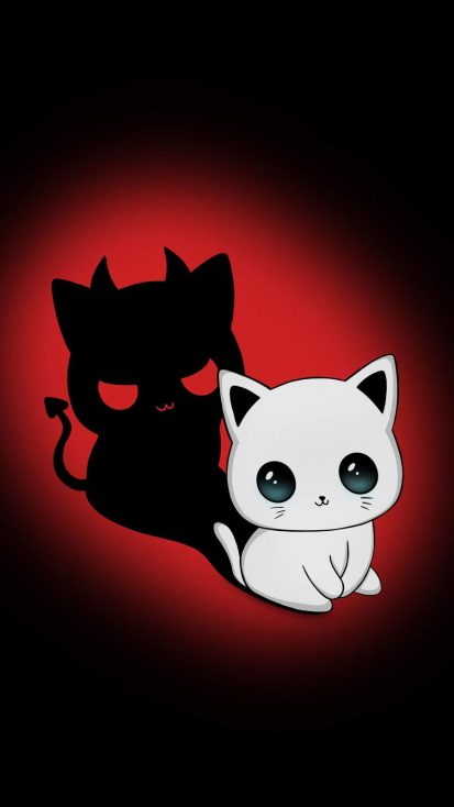 Evil Cat iPhone Wallpaper