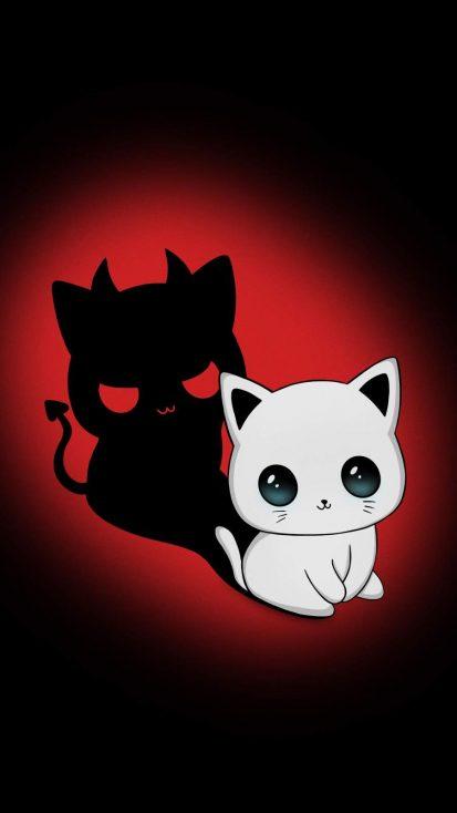 Evil Cat iPhone Wallpaper