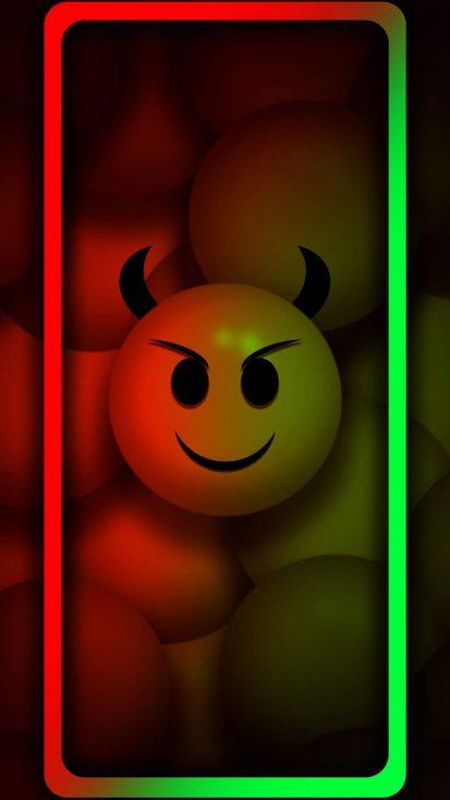 Evil Smile iPhone Wallpaper 2
