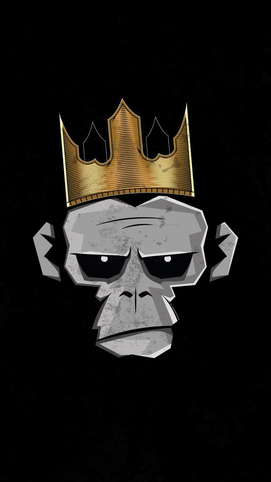 Gorilla King iPhone Wallpaper