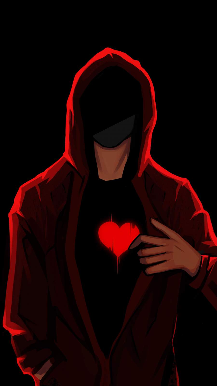 Hoodie Guy with Heart