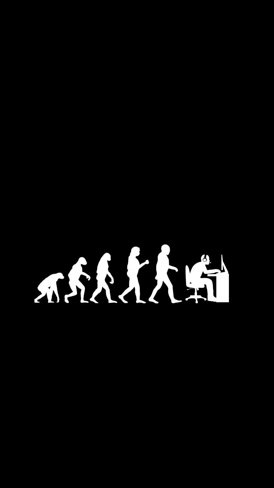 Human Evolution iPhone Wallpaper