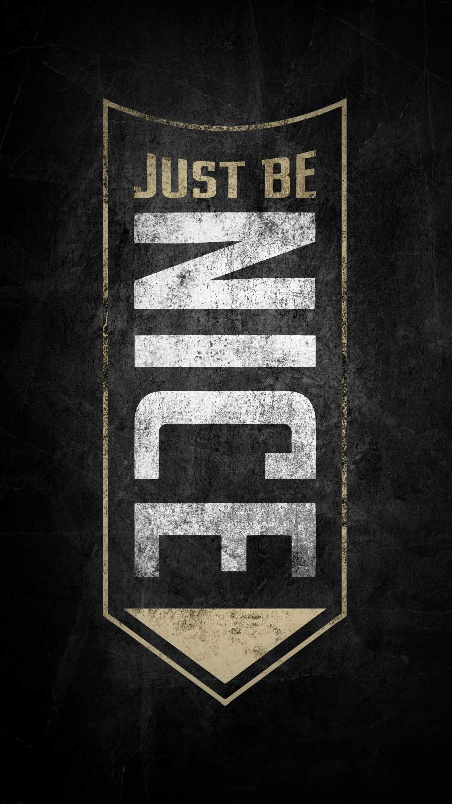 Just Be Nice iPhone Wallpaper