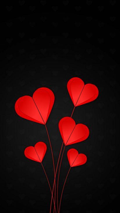 Love Hearts iPhone Wallpaper