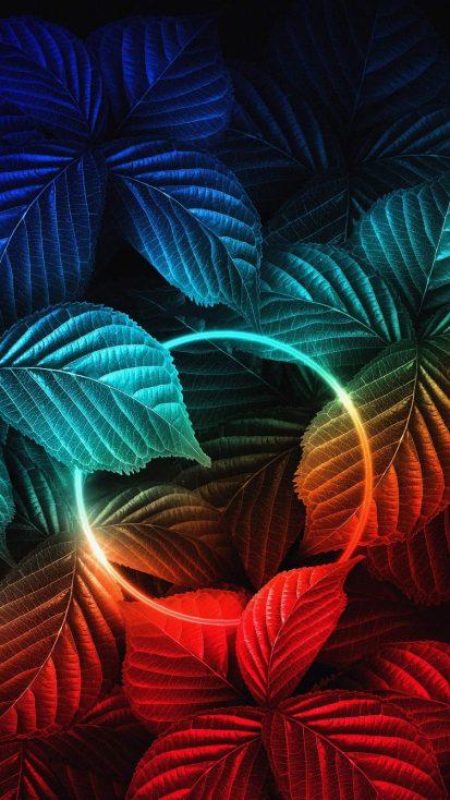 Nature Neon iPhone Wallpaper