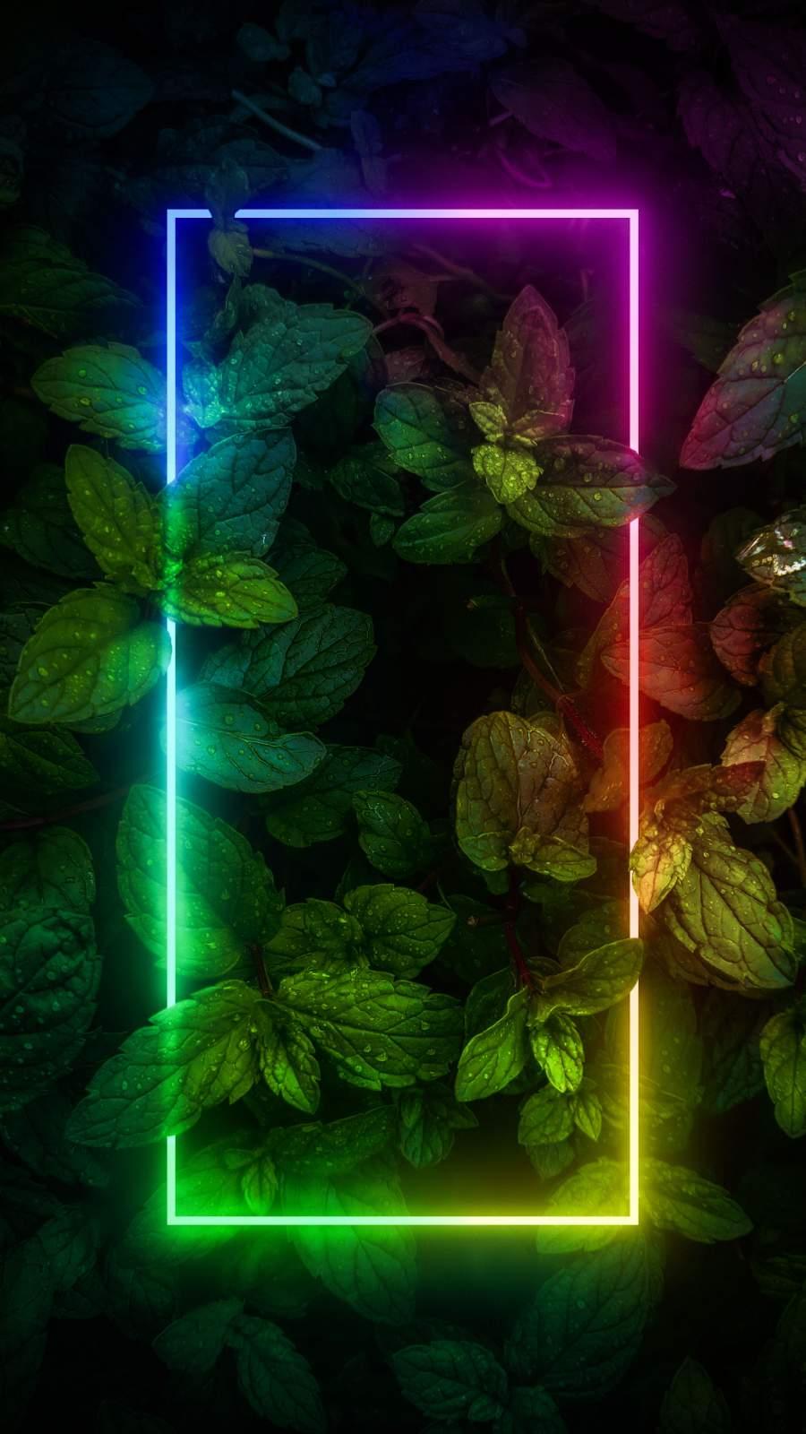 Neon RGB Glow Foliage Nature