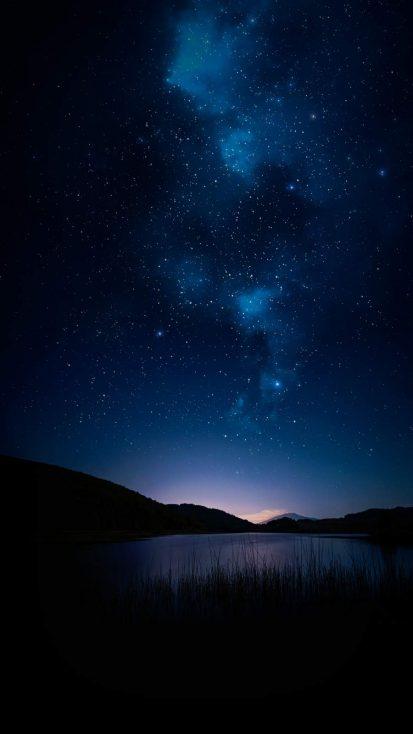 Night Sky Nature Lake