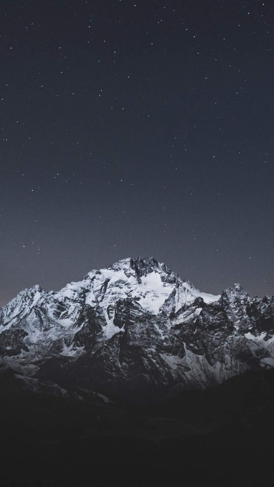 Night Snow Mountain iPhone Wallpaper