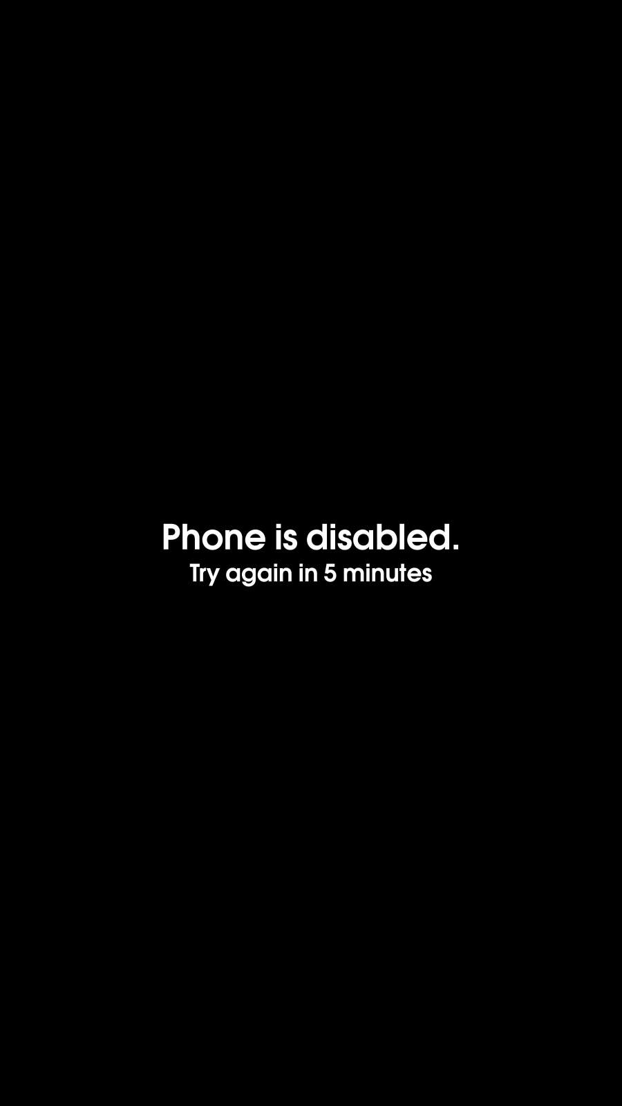 Phone is Disabled iPhone Wallpaper