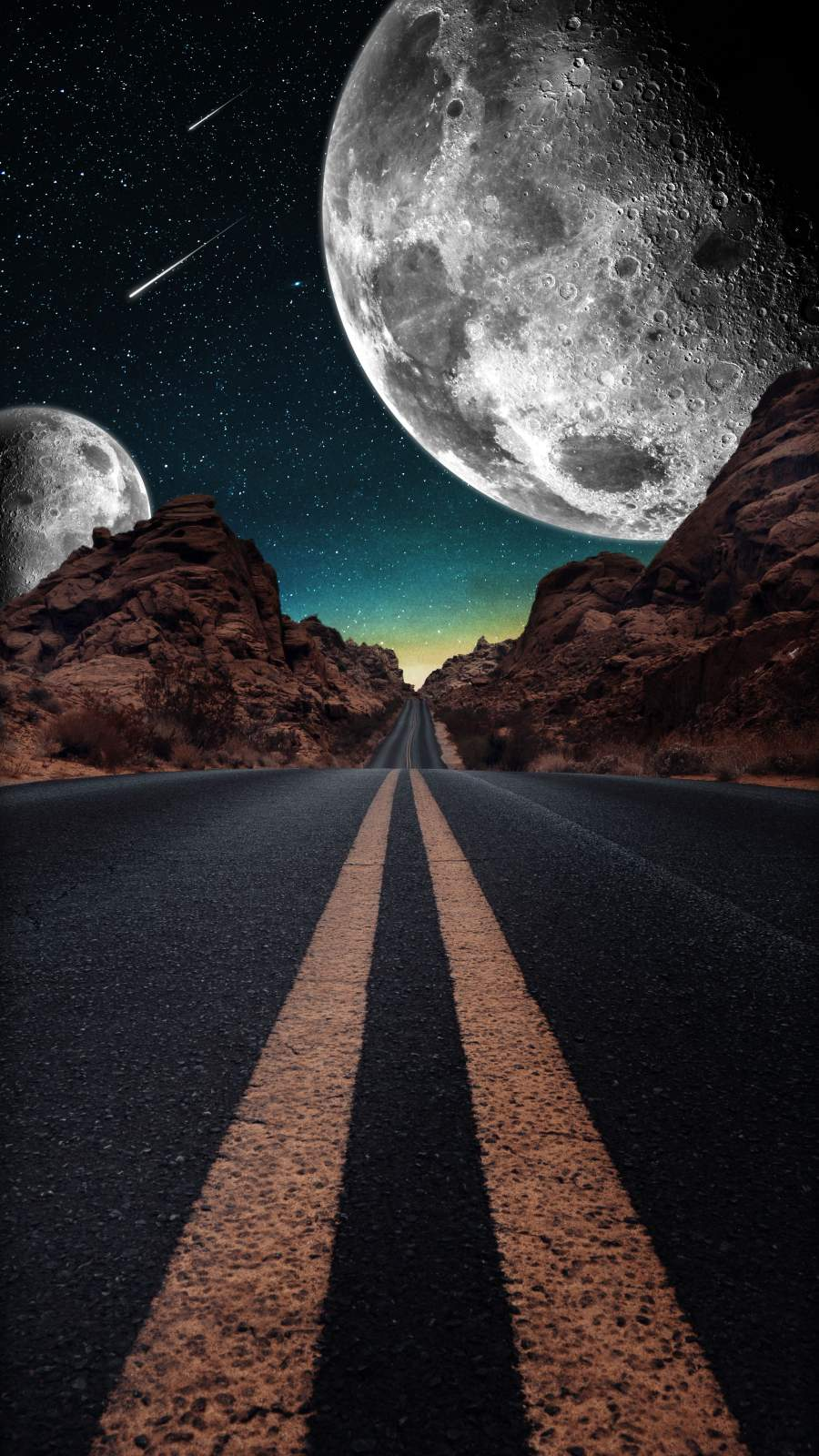 Road to Space iPhone Wallpaper