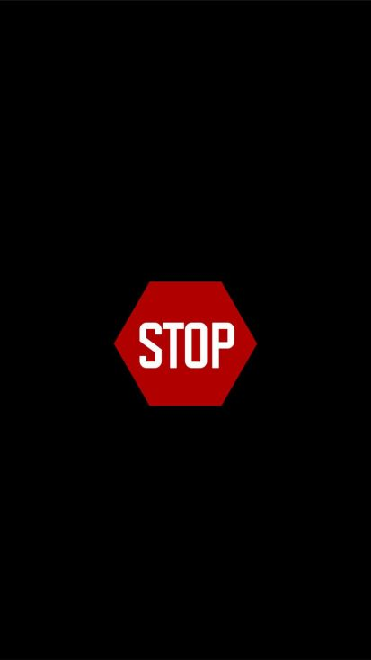 STOP iPhone Wallpaper