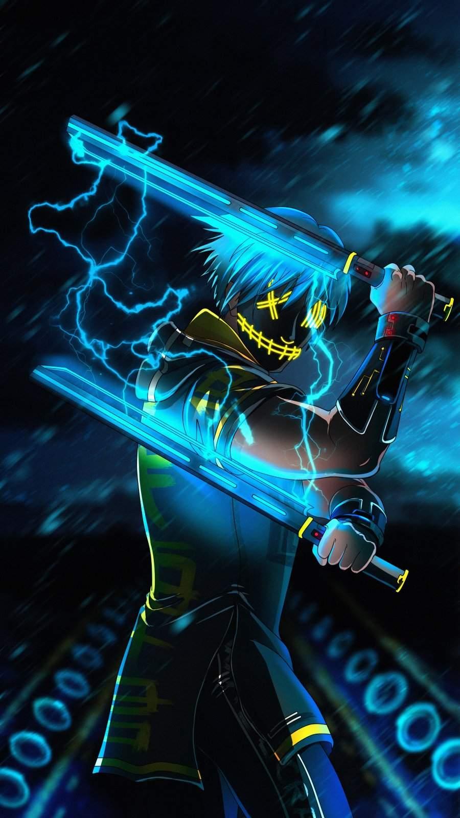 Sword Master Anime iPhone Wallpaper