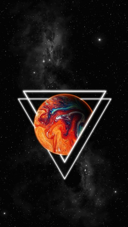 Triangle Space iPhone Wallpaper