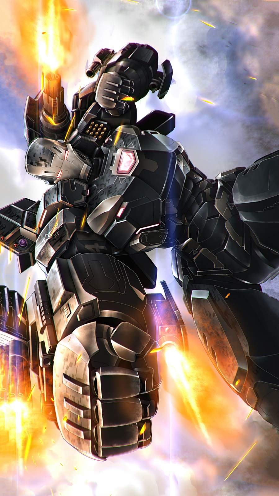 War Machine 2021 Armor iPhone Wallpaper