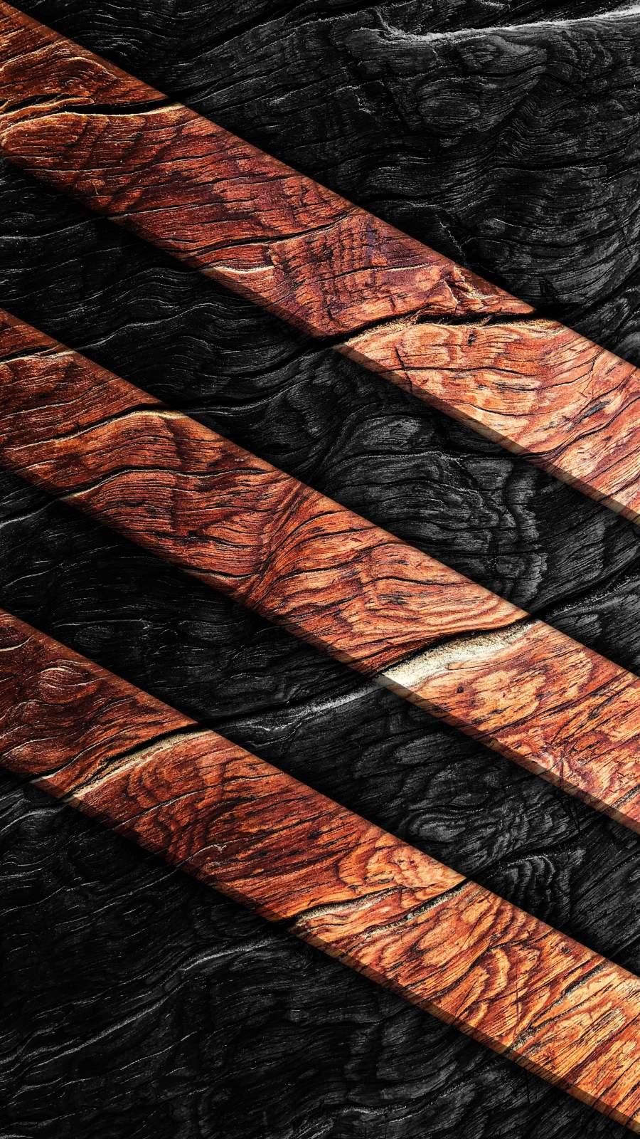 Wood Art iPhone Wallpaper