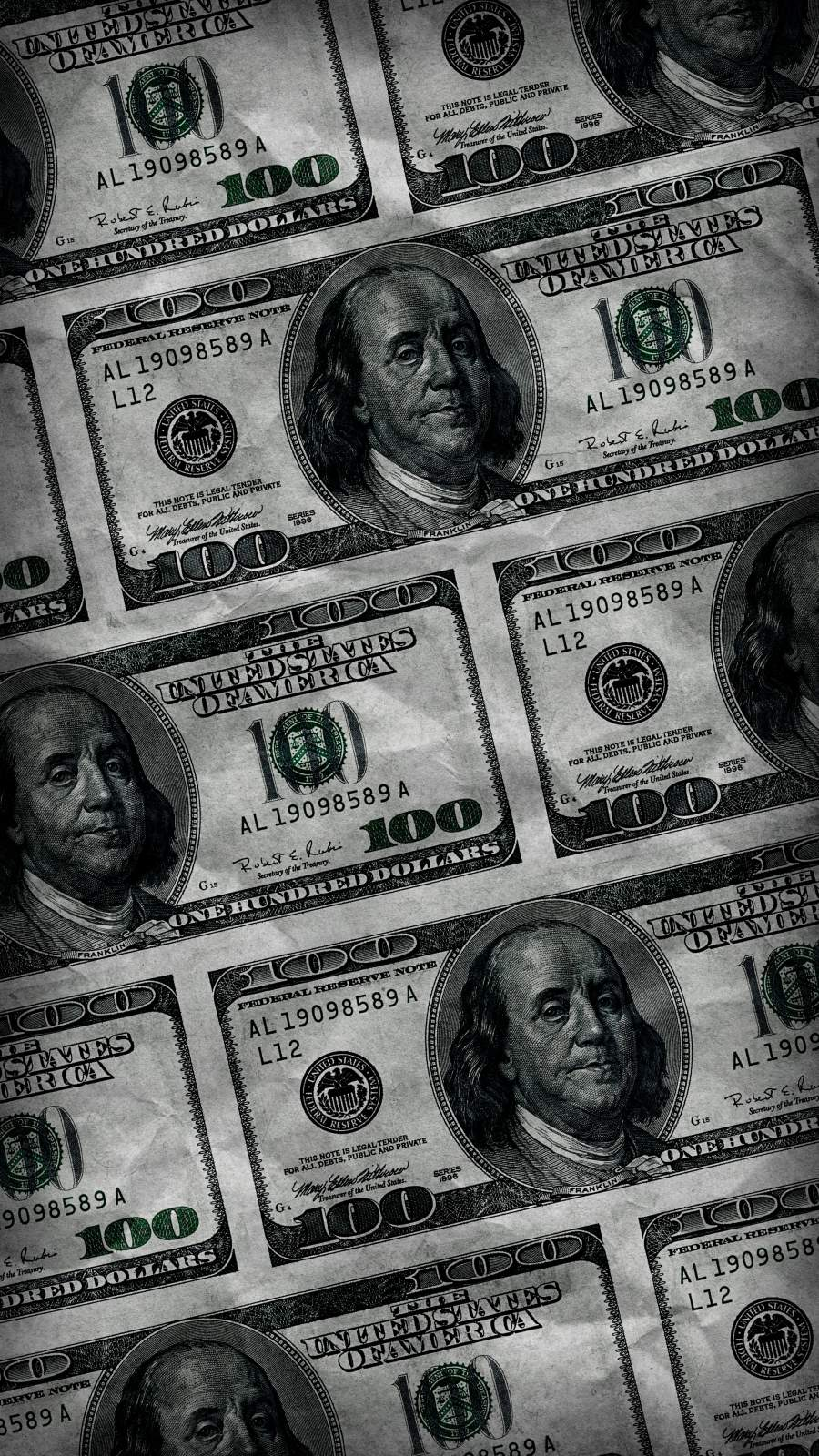100 Dollar Bills iPhone Wallpaper